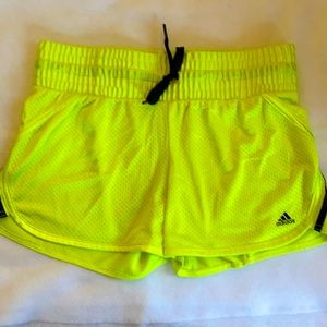 🌸Adidas Yellow Shorts - Medium